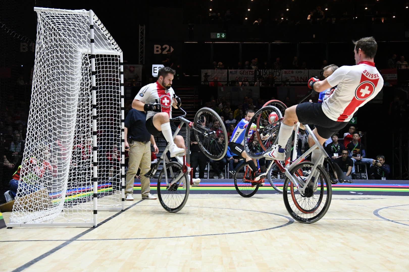 Start der Radball SM 2021 - Swiss Indoor- & Unicycling